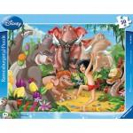 Puzzle cadre - 30 pièces - Livre de la jungle : Mowgli et Baloo