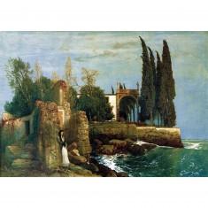 Puzzle 300 pièces - Arnold Böcklin : Ruines au bord de la mer
