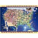 Puzzle 300 pièces - Cartes des USA