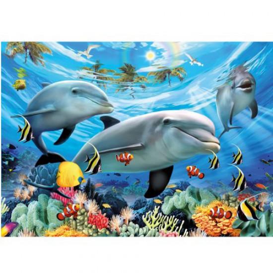 Puzzle 300 pièces - Le bal des dauphins - Ravensburger-13052