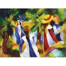 Puzzle 300 pièces - Macke : Jeunes filles sous les arbres