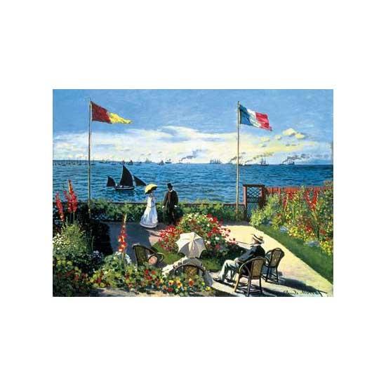 Puzzle 300 pièces - Monet : Terrasse à Sainte-Adresse - Ravensburger-14020