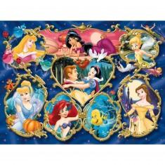 Puzzle 300 pièces - Princesses Disney : Galerie des Princesses