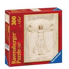 Puzzle 300 pièces - Léonard de Vinci : L'homme de Vitruve