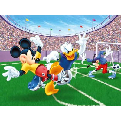 Puzzle 300 pi ces mickey et ses amis match de football - Amis de mickey ...