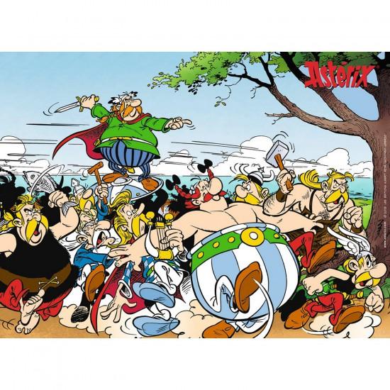 Puzzle 300 pièces XXL : Astérix : Les gaulois à l'attaque - Ravensburger-13098