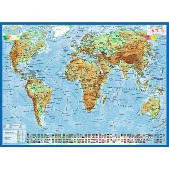 Puzzle 300 pièces XXL : Carte politique du monde - Ravensburger-13097