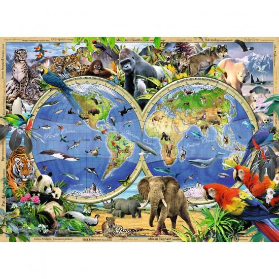 Puzzle 300 pièces XXL : Le monde sauvage - Ravensburger-13173