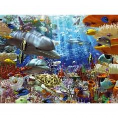 Puzzle 3000 pièces - Vie sous-marine