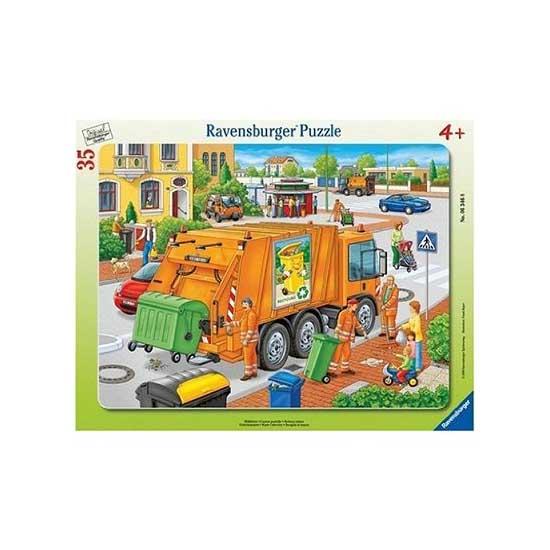Puzzle 35 pièces - Collecte des déchets - Ravensburger-06346