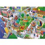 Puzzle 35 pièces : La ville s'agite