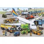 Puzzle 35 pièces - Activités de l'aéroport