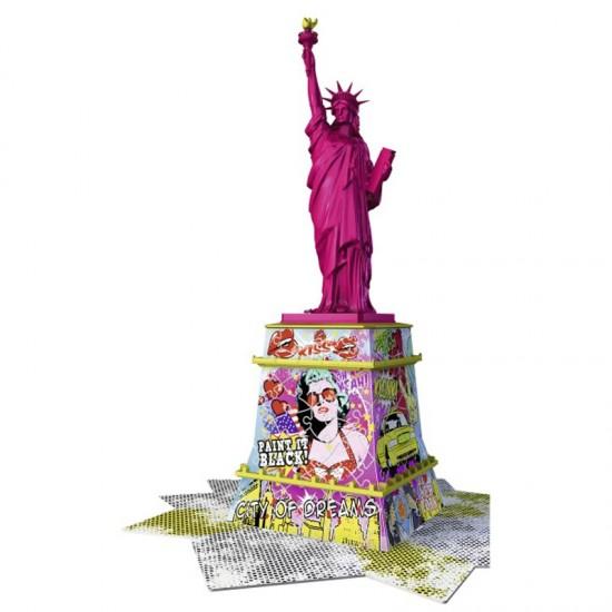 Puzzle 3D 108 pièces : Statue de la Liberté Pop Art - Ravensburger-12597