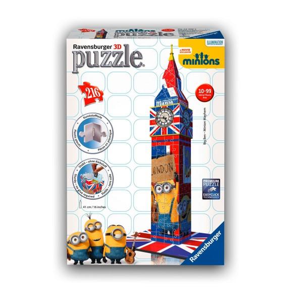 Puzzle 3D 216 pièces : Big Ben Minions - Ravensburger-12589