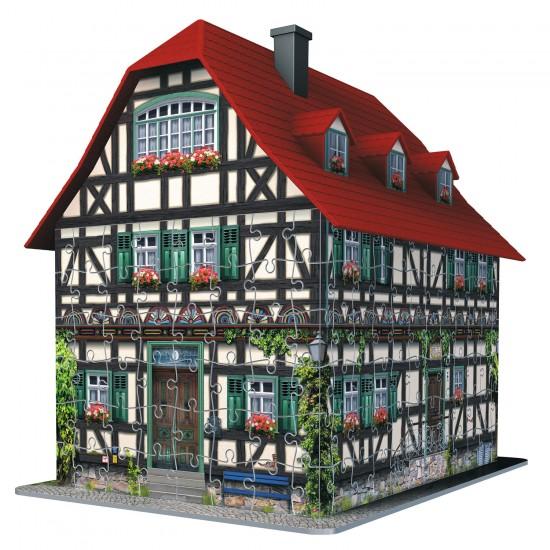 Puzzle 3D 216 pièces : Maison à colombages - Ravensburger-12572