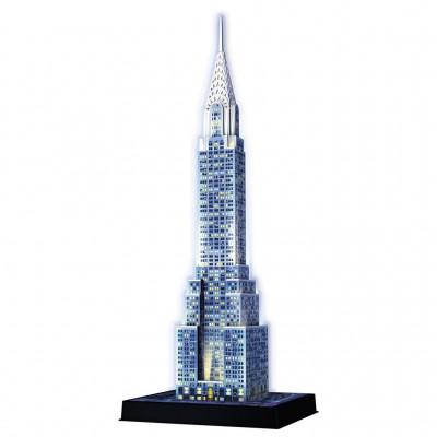 Puzzle 3D 216 pièces : Night Edition : Chrysler Building - Ravensburger-12595