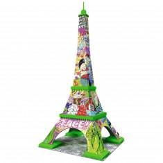 Puzzle 3D 216 pièces : Pop Art Edition : Tour Eiffel