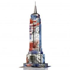 Puzzle 3D Architecture 216 pièces : Empire State Building Flag