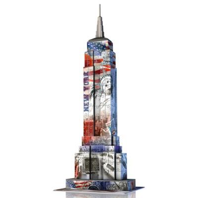 Puzzle 3D Architecture 216 pièces : Empire State Building Flag - Ravensburger-12583