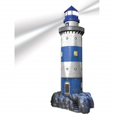 Puzzle 3D Architecture 216 pièces : Phare Night Edition
