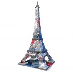 Puzzle 3D Architecture 216 pièces : Tour Eiffel Flag