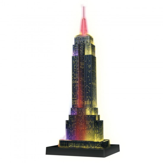 Puzzle 3D Night Edition : Empire State Building - Ravensburger-12566