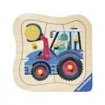 Puzzle 4 pièces : Tracteur