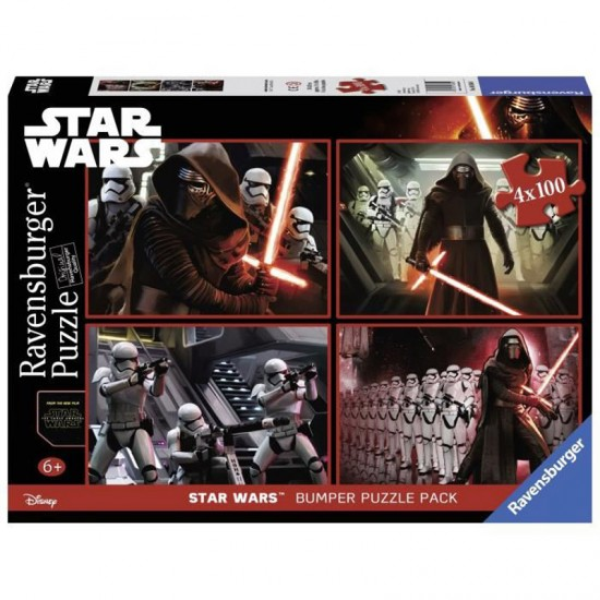 Puzzle 4 x 100 pièces : Bumper Pack : Star Wars Episode VII - Ravensburger-06850