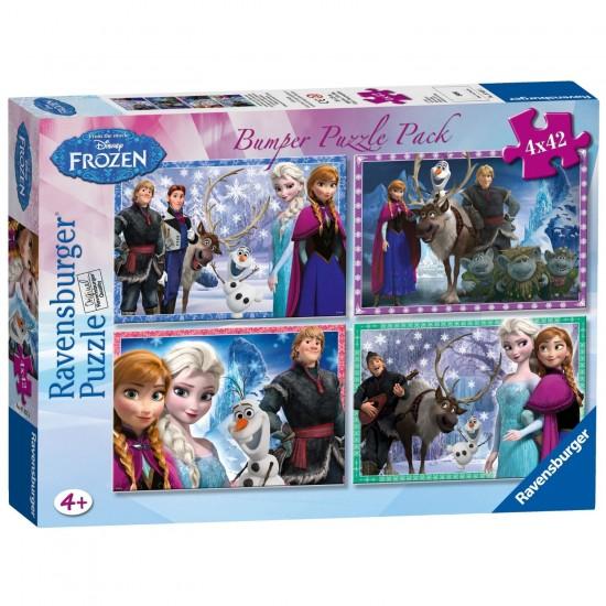 Puzzle 4 x 42 pièces : Bumper Pack : La Reine des Neiges (Frozen) - Ravensburger-07025