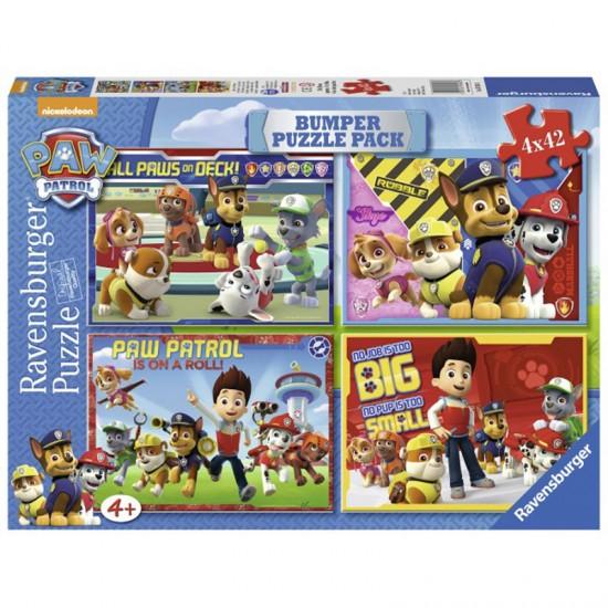 Puzzle 4 x 42 pièces : Bumper Pack : Pat'Patrouille (Paw Patrol) - Ravensburger-07034