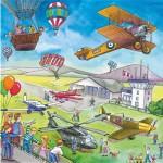 Puzzle 49 pièces - Sur la route et dans les airs
