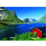Puzzle 500 pièces - Village de pêcheurs norvégiens