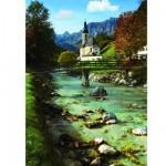 Puzzle 500 pièces - Village de Ramsau, Oberbayern