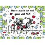 Puzzle 500 pièces : Auourd'hui je ne fais rien !