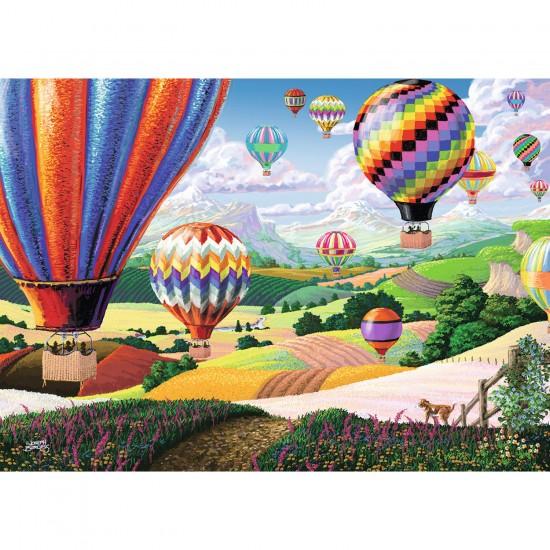 Puzzle 500 pièces : Ballons colorés - Ravensburger-14871