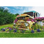 Puzzle 500 pièces : Camionnette en fleur