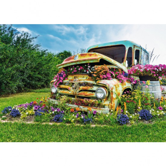 Puzzle 500 pièces : Camionnette en fleur - Ravensburger-14885