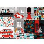 Puzzle 500 pièces : Chats à l'anglaise