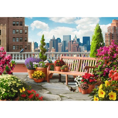 puzzle 500 pi ces jardin de toit puzzle ravensburger rue des puzzles. Black Bedroom Furniture Sets. Home Design Ideas