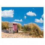 Puzzle 500 pièces : La chaise de plage