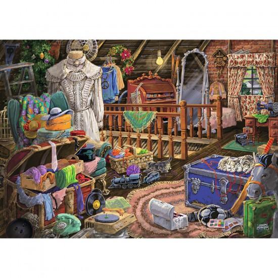 Puzzle 500 pièces : Le grenier - Ravensburger-14869