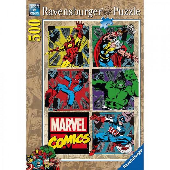 Puzzle 500 pièces : Les aventures des Avengers - Ravensburger-14339