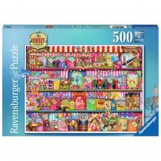 Puzzle 500 pièces : Magasin de confiserie