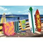 Puzzle 500 pièces : Plage de surfeurs