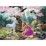 Puzzle 500 pièces : Une rencontre dans la forêt enchantée
