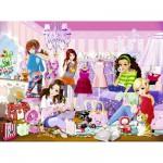 Puzzle 500 pièces brillant : Fashion Girls