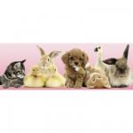 Puzzle 500 pièces panoramique : Bébés animaux