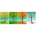 Puzzle 500 pièces panoramique : Les quatre saisons