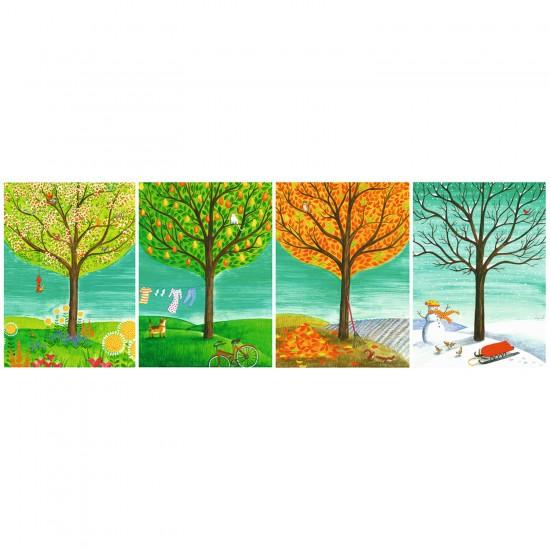 Puzzle 500 pièces panoramique : Les quatre saisons - Ravensburger-14706