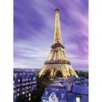 Puzzle 500 pièces phosphorescent : Star Line : Tour Eiffel scintillante